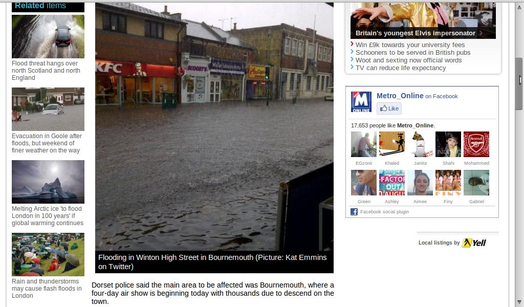 Dorset Floods